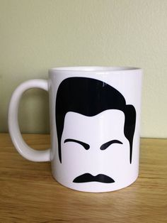 Men of TV Mug (11oz) - Ron Swanson