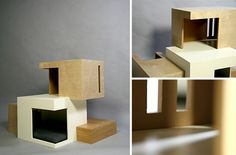 Ideas for things to build my Bisou... or if I had a million dollars... Habitat '11 Modern Cat House by Sarah Chou