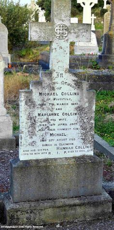 The grave of Michael Collins, Glasnevin, Dublin The vases are never empty of flowers, and there are often wreaths or other floral trib. Ireland 1916, Michael Collins, Irish Quotes, Old Pictures, Cemetery, Dublin, Anniversary, History, Death