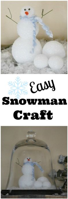 $2 or less & you can make this easy snowman craft.  Perfect for a snowy day
