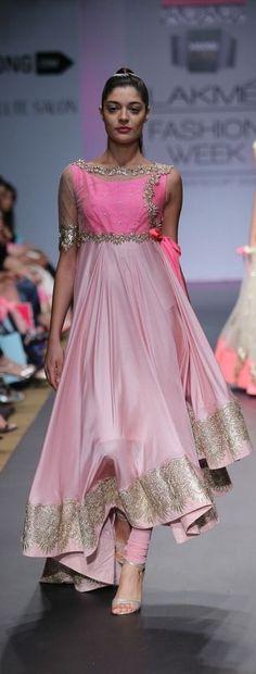 Pink Designer #Anarkali dress...........