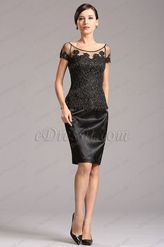 Bateau Neck Black Mother of the Bride Dress (X26150200) list price: $140.81 sale price: $91.53