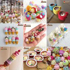 2016年alphadornのあみぐるみスイーツ&フードBest9 Crochet Food, Crochet Bunny, Love Crochet, Crochet Crafts, Yarn Crafts, Crochet Projects, Knit Crochet, Sewing Projects, Crochet Stitches