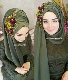 Hijab Fashion Selection of special trendy looks Look De İslami Erkek Modası 2020 Muslimah Wedding Dress, Hijab Wedding Dresses, Hijab Fashion 2016, Look Fashion, Fashion Muslimah, Abaya Fashion, Modest Fashion, Muslim Dress, Hijab Dress