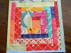 Scrappy Log Cabin block