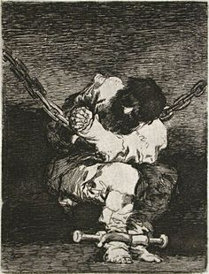 Le Petit Prisonier, etching 1807 ~ by Francisco José de Goya Y Lucientes of Spain (1746-1828). First issued in Gazette des Beaux-Arts, vol. XXII, Paris, 1867. http://www.davidsongalleries.com/artists/goya/goya.php