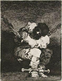 Francisco de Goya - Prisionero encadenado, 1807