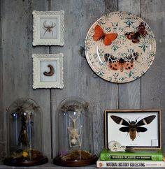 Autumn Butterfly Handmade Decoupage Under Glass by DecouDermy, $20.00