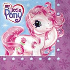 My Little Pony Party Supplies Luncheon Dinner Napkins - 16ct by AMSCAN. $7.50. Things are always wonderful in Ponyville! These dreamy lunch napkins have My Little Pony against a light blue background with a purple border. Be sure to order enough napkins for each of your guests to have two or more. Each package contains 16 napkins.