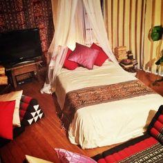 gokizou2さんの、ベッドルーム,三角枕,イカット,バリ風なお部屋,バリ雑貨,アジアン雑貨,アジアン,ベッド周り,のお部屋写真