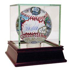 Jorge Posada Signed Charles Fazzino Pop Art 'Retired Number' MLB Baseball (L/E of 15)