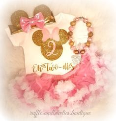 ***Customer Favorite*** Minnie Mouse Oh-Two-dles 2nd Birthday Shirt© - Pink