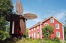 Topian talo ja tuulimylly, Kannus, Central Ostrobothnia province of Western Finland - Keski-Pohjanmaa