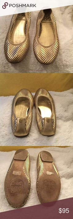Tory Burch Ballet Flats Mesh style ballet flats, very comfortable in excellent condition with some ware on soles. Tory Burch Shoes Flats & Loafers