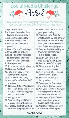 April Social Media Challenge - CinchShare Blog. www.jennpennbags.com