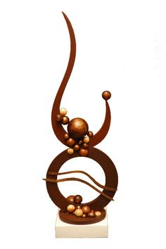 Abstract Sculpture 2 Chocolate Showpiece, Chocolate Garnishes, Chocolate Centerpieces, Chocolate Decorations, Chocolate Work, Chocolate Shop, Round Birthday Cakes, Chocolates, Food Sculpture
