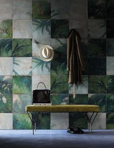 Exotic damier www.wallanddeco.com #wallpaper, #wallcovering, #cartedaparati:
