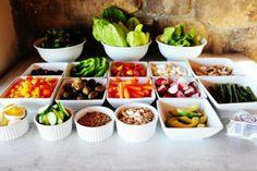 chopped salads salad bar party 3buffet ideas group girls night style ...