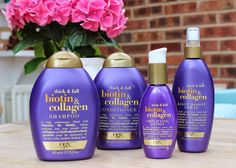 If you have thin hair, or previously had thicker hair but it lost its fullness I have a savior for you poor hair. I started off using the shampoo only then fell in love with the rest! Helped my hair g (Best Shampoo Ogx)