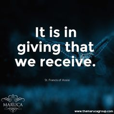 It is in giving that we receive. (St.Francis of Assisi) For Professionally managed villas around the world 🌎-The Maruca Group For Details: please contact us @themarucagroup Reservations@themarucagroup.com www.themarucagroup.com +1305-218-5216 #TheMarucagroup #Hamptons #Palmsprings #Southbeach #Bahamas #Miami #villarentals  #motivation #conditions #life #accept #beStrong #believe #responsibilty #mission #motto #choices #wheretogo smile #stronger #respectyourself #trustyourself #peace #gypsy…