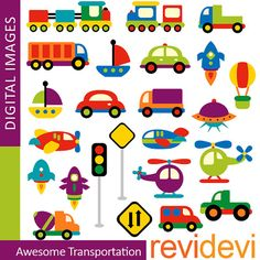 Buy 5 get 5 free Awesome Transportation 07333  Digital by revidevi, $4.95