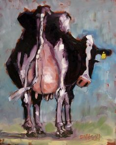 Holy Cow, original painting by artist Rick Nilson