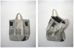 Ilvy Jacobs. Airplane bags made entirely of paper.