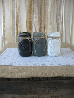 Painted Mason Jars - I like the color gradation