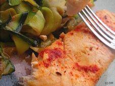 Recette des pavés de saumon aux courgettes