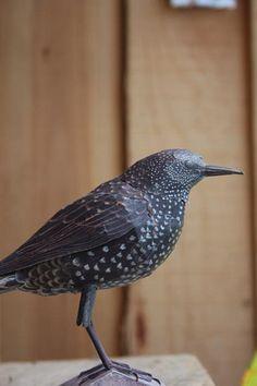 papier mache starling
