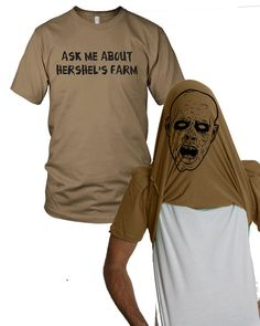 Ask me about Hershel's farm shirt zombie t shirt by CrazyDogTshirts, $16.99