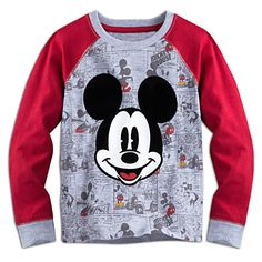 Mickey Mouse Long Sleeve Raglan Tee for Boys | Disney Store