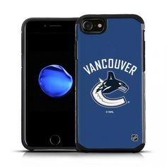 Apple iPhone 8/ iPhone 7/ iPhone 6S/ iPhone 6 - NHL Licensed Vancouver Canucks Blue Texture Back Cover on Black TPU Skin