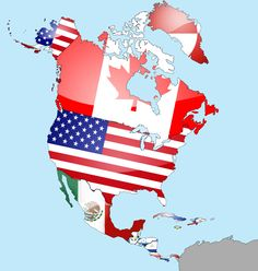 North America Flag Map by lg-studio on DeviantArt, North America Flag, North America Continent, Central America, South America, Map America, World Geography, Geography Map, Thinking Day, City Photo
