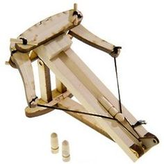 A gift that can literally poke your eye out. A mini-ballista (think Roman catapult). This is a desktop version. I once built a huge one of these. Because I could.