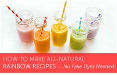 How to get every color of the rainbow in your kitchen, no fake food dye needed! Get ready to make some seriously colorful rainbow recipes!
