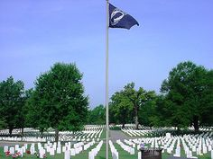 MIA - POW flag FS National Cemetery Fort Smith, Arkansas by Michael Plume, via Flickr