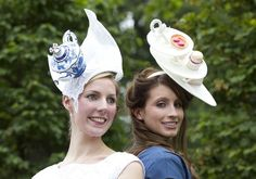 Amy's friend Jennifer Monkley (right), completed the tea time theme with her hat. AP