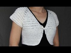 (10) How to crochet a women's short top - video tutorial with detailed instruction with Spanish subtitles - YouTube