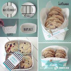 Vytvořte z papírového tácku dárkovou misku pro oblíbenou pochoutku Muffin, Breakfast, Food, Morning Coffee, Essen, Muffins, Meals, Cupcakes, Yemek