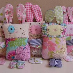 Sewing toys for baby easter Ideas Sewing Stuffed Animals, Stuffed Toys Patterns, Fabric Toys, Fabric Scraps, Doll Patterns, Sewing Patterns, Sewing Crafts, Sewing Projects, Sewing Ideas