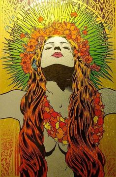 Hippie Chick colorful girl art cool artistic hippie psychedelic