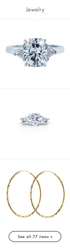 """""""Jewelry"""" by mermadem7 ❤ liked on Polyvore featuring jewelry, rings, gioielli, multiple, yellow gold engagement rings, radiant cut engagement rings, yellow gold rings, radiant cut diamond rings, diamond jewelry and engagement rings"""