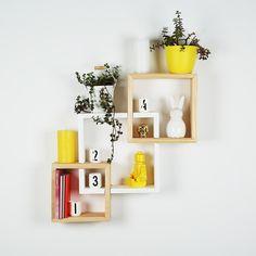 B&K Design and Decor - Square Block Shelf Set Of 3