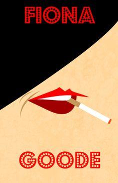 #AHS Coven minimalist posters: Fiona Goode   #AmericanHorrorStory