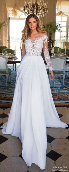 Milla Nova Wedding Dresses 2018 Violet5 #wedding #weddingdress #weddingideas #deerpearlflowers #dpf ❤️ http://www.deerpearlflowers.com/long-sleeves-wedding-dresses/