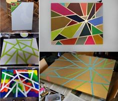 DIY Geometric Tape Painting Pictures, Photos, and Images for Facebook, Tumblr, Pinterest, and Twitter