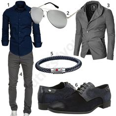 Business-Look mit dunkelblauem Hemd, Schuhen und Armband – Business look with dark blue shirt, shoes and bracelet – Casual Outfits, Men Casual, Fashion Outfits, Men's Business Outfits, Formal Dresses For Men, Dark Blue Shirt, Love Fashion, Mens Fashion, Outfits Hombre