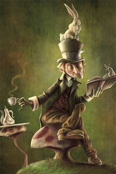 Is that you Alice? Alice in Wonderland. The Mad Hatter, the March Hare and the Dormouse Lewis Carroll, Alice In Wonderland Pictures, Dormouse Alice In Wonderland, Chesire Cat, Mad Hatter Tea, Mad Hatters, Adventures In Wonderland, Fantasy Illustration, Through The Looking Glass