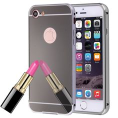 [$2.26] For iPhone 7 Separable Electroplating Mirror Push Pull PC Protective…